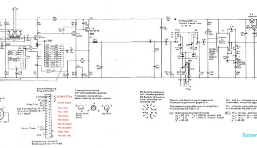 Siemens V 276 Pinout/Schematics