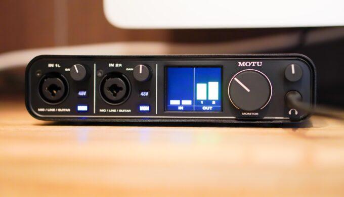 MOTU M2のレビュー!2万円台とは思えない高品質な音に驚愕!品薄な理由に納得